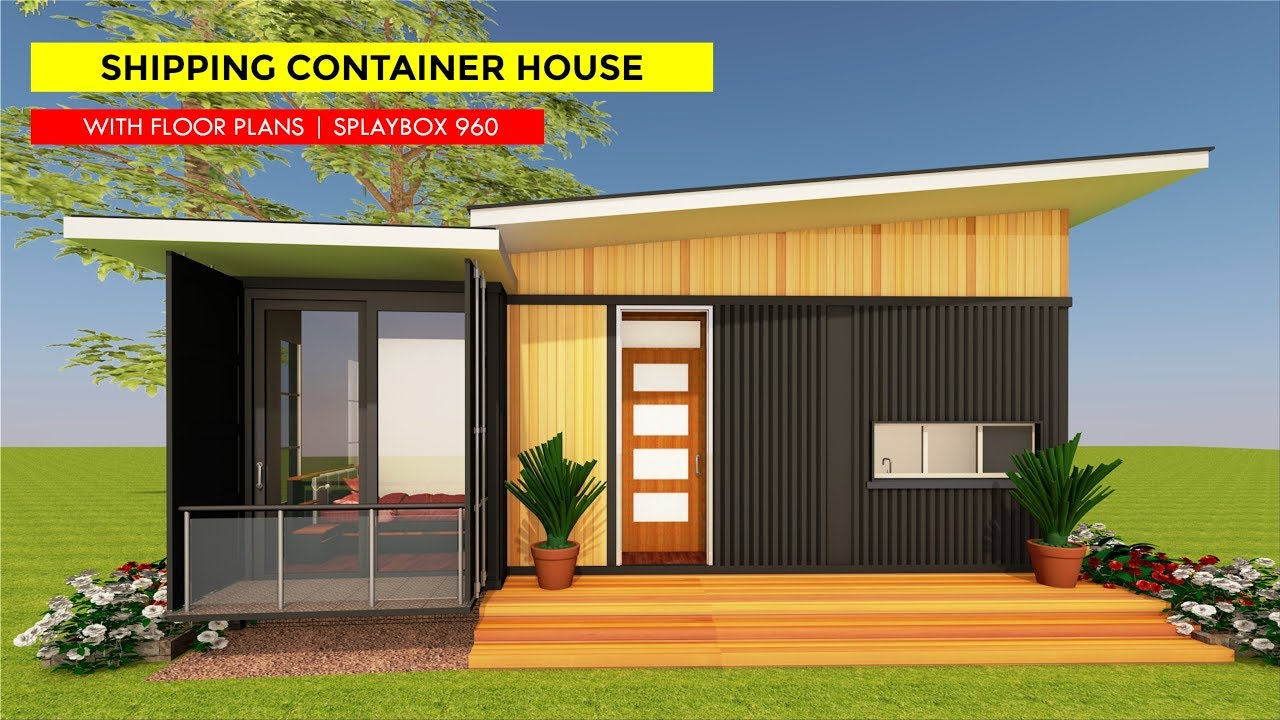 2 Bedroom Bungalow Floor Plans: Shipping Container 2 Bedroom Bungalow House Design With