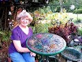 How To Make  Mosaic  Stain Glass Art  Table Top .