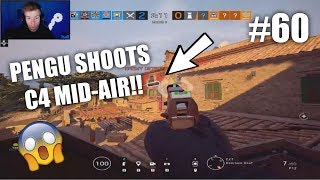PENGU SHOOTS A C4 *MID-AIR* | Rainbow Six: Siege  Twitch Clips #60