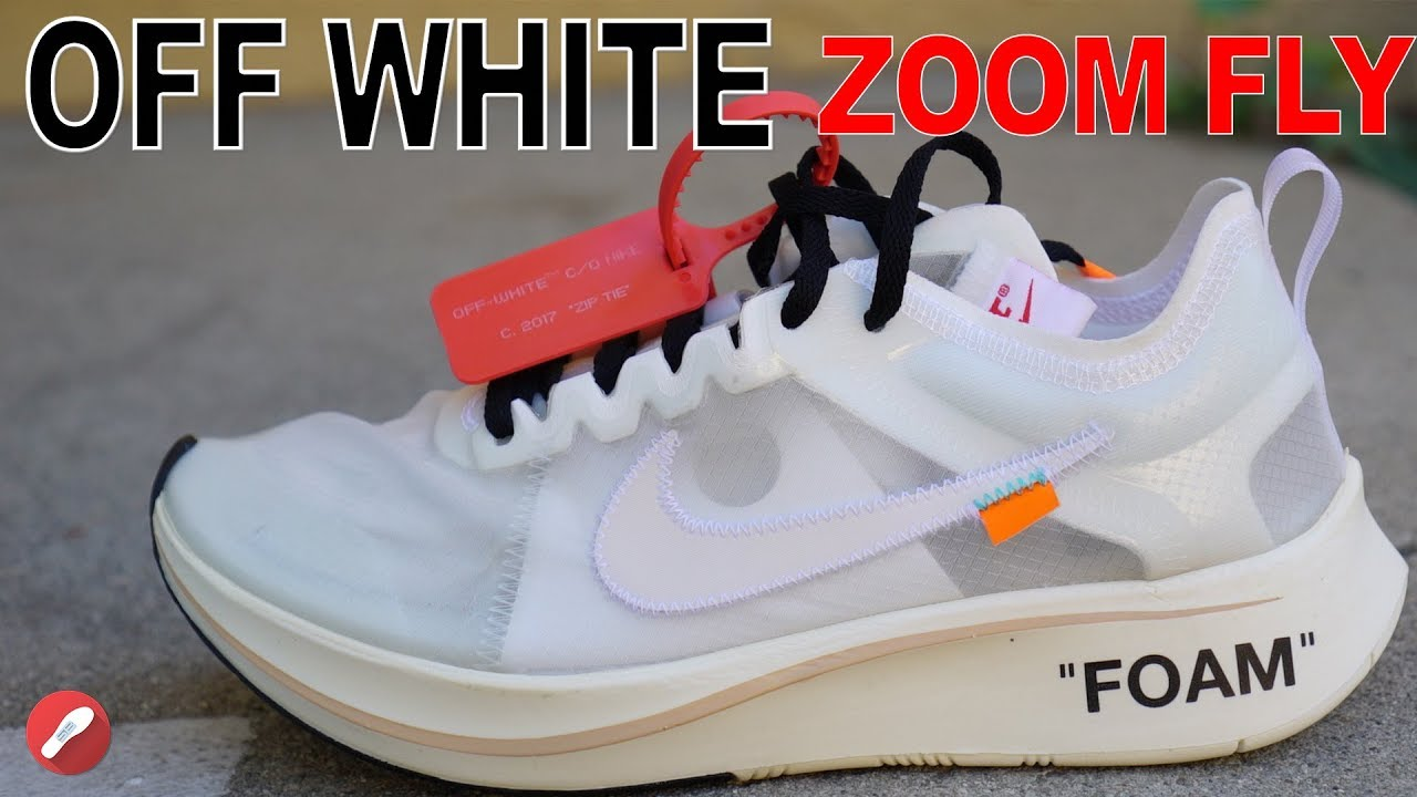 Off White Nike Zoom Fly Unboxing + Detailed Look!