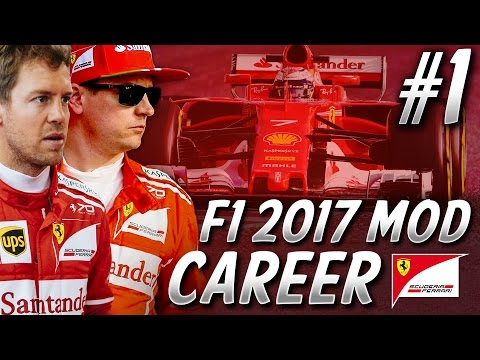 F1 2017 Mod Career Mode Part 1: Australia | Ferrari