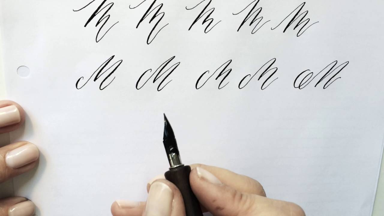 Modern Calligraphy Letter M Youtube