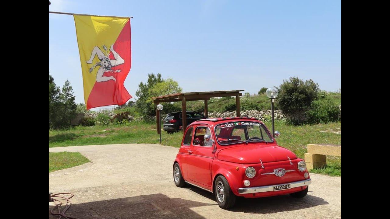 Sycylia. Fiat 500 Giannini na kwarantannie.