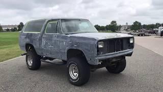 Davis AutoSports Dodge RamCharger / Restore Progress Video 1