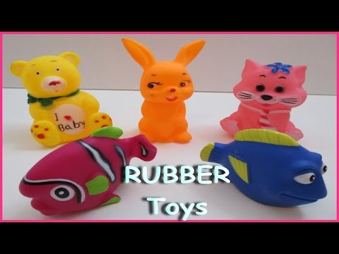 PLAy & Learn Colors And Animals - Fish W/ Rubber Toys & Fun Educational Video Episode