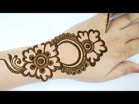 आसान अरेबिक मेहँदी लगाना सीखे -Easy Arabic Mehndi Designs step by step- How to apply mehndi on hands