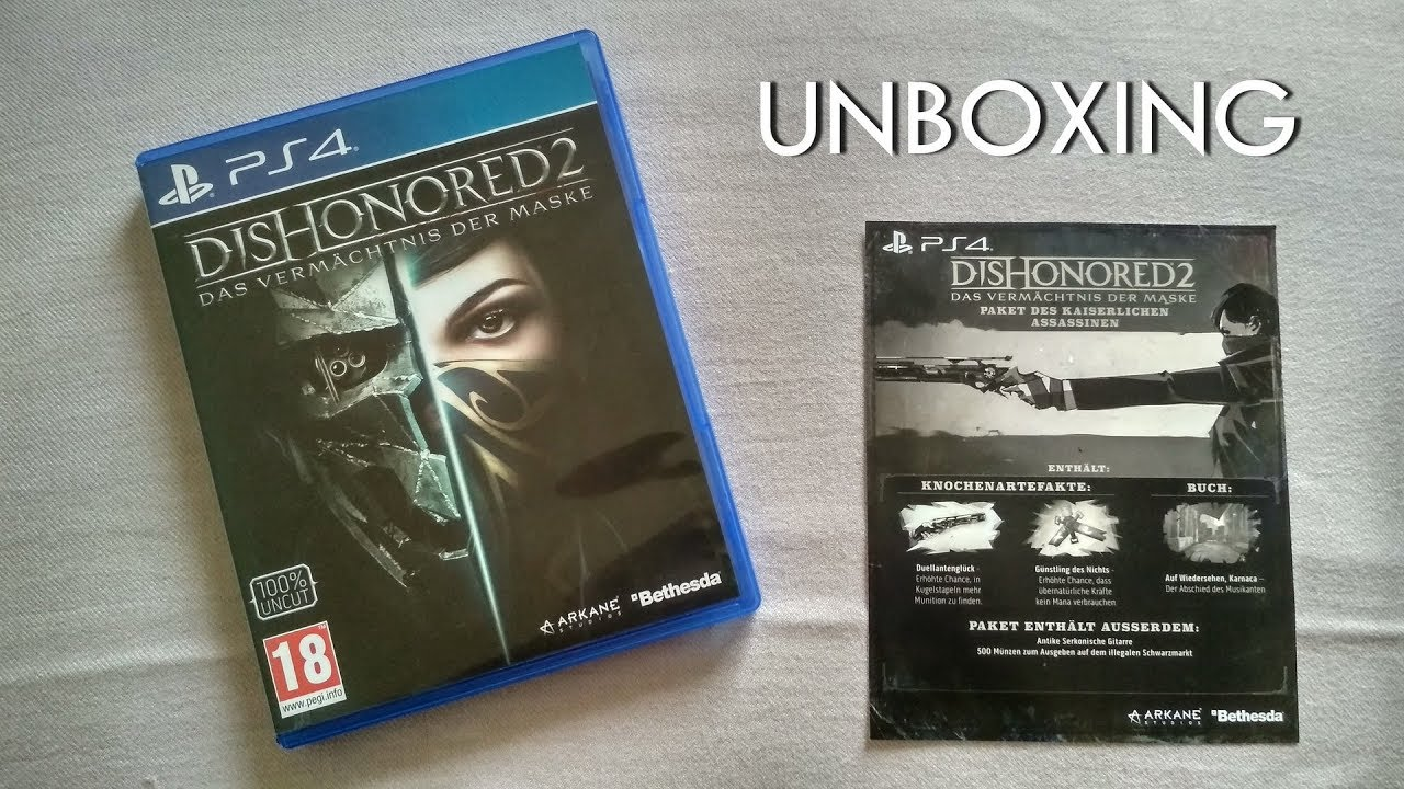Dishonored 2 (PS4) Unboxing - Amazon India