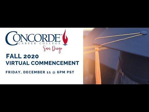 Concorde Career College San Diego Fall 2020 Graduation