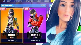 *NEW REBEL & REVOLT SKINS IN FORTNITE! NEW SKINS GIVEAWAY!!! LIVE PS4 GAMEPLAY!
