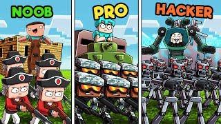 Minecraft - MILITARY BASE DEFENSE! (NOOB vs PRO vs HACKER)