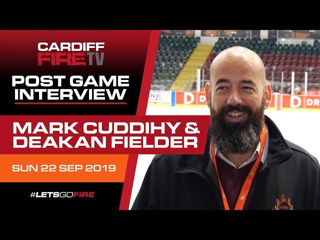 Mark Cuddihy & Deakan Fielder post match interview 22/09/19