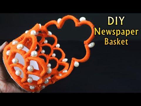 How to Make Newspaper Basket In Simple Way