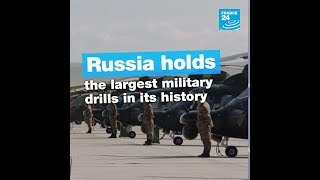 Russia holds the largest military drills in its history
