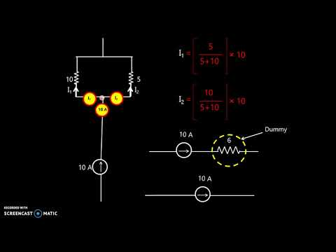 Easy understanding of Electrical Energy Sources and Source Transformation with animation.