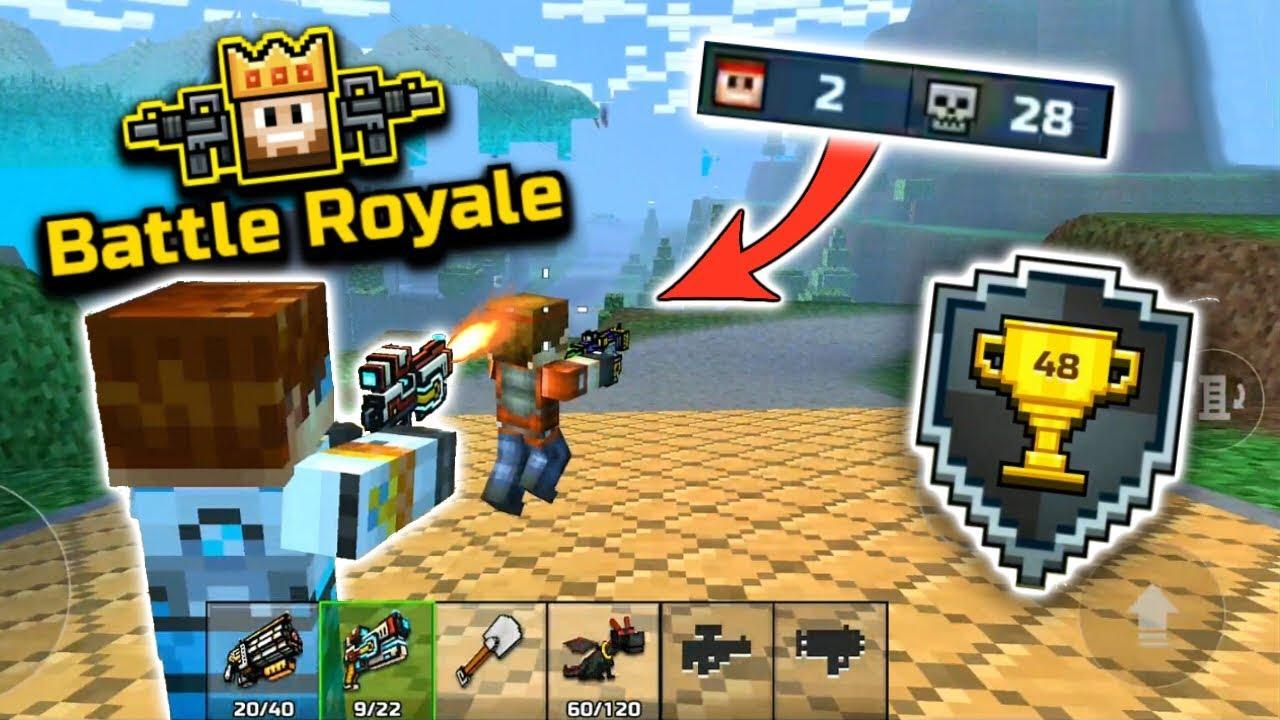 FIRST EVER WIN IN BATTLE ROYALE!!   Pixel Gun 3D [New Update]