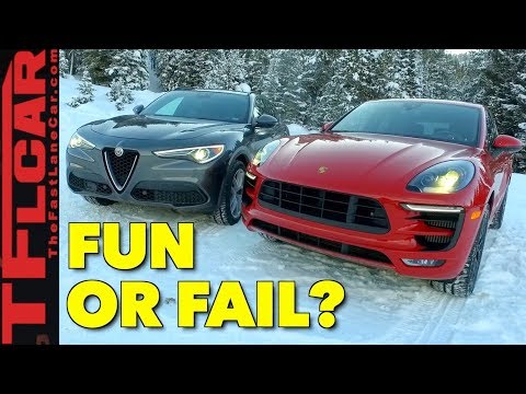 Europeans On Ice! 2018 Porsche Macan vs Alfa Romeo Stelvio Snowy Review
