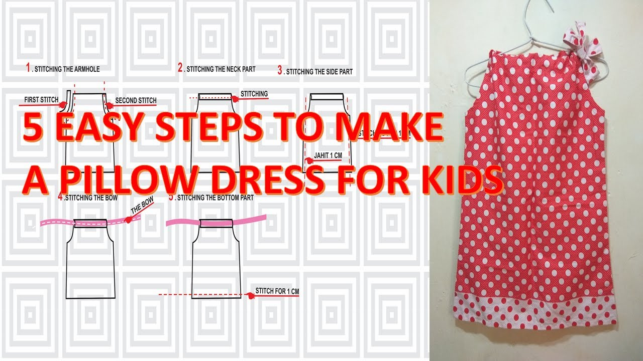 How to make pattern and sew a simple pillowcase dress for for Armhole template for pillowcase dress