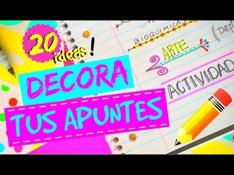 20 IDEAS PARA DECORAR TUS APUNTES! ♥ COMO HACER TITULOS | DECORA TUS CUADERNOS MUY COOL! !