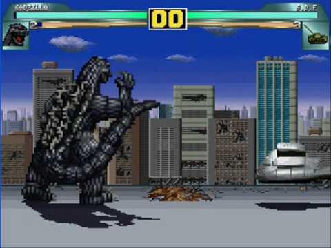 MUGEN: Godzilla VS Army Tanks (Bonus game)