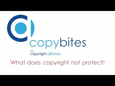 """Copybites by Copyright Alliance """"What copyright does not protect"""""""