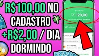 LOUCURA😱 RESGATE R$100 NO PIX SÓ PELO CADASTRO + GANHE R$2 POR DIA DORMINDO /Ganhar Dinheiro Online