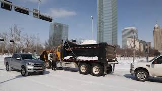 Downtown OKC works to clear snow from winter storm