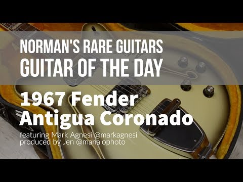 Norman's Rare Guitars - Guitar of the Day: 1967 Fender Antigua Coronado