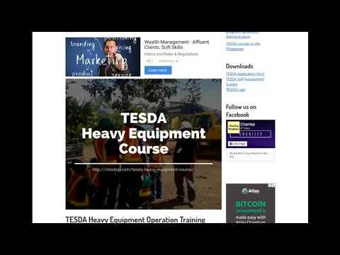 TESDA Heavy Equipment Course 2019