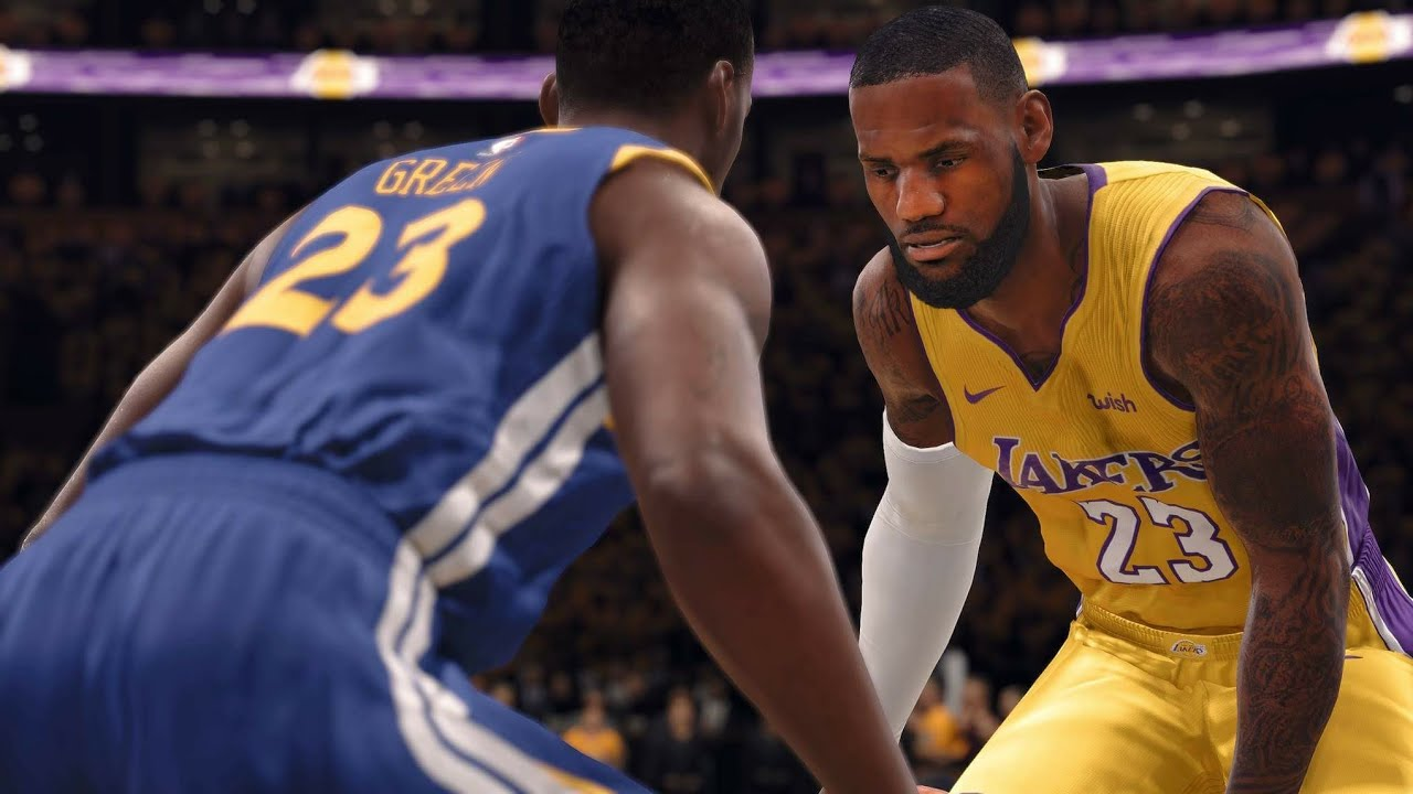 1a117cc998ae LeBron s LA Lakers vs Golden State Warriors - 1st Half - NBA LIVE 18 PS4  PRO - HD