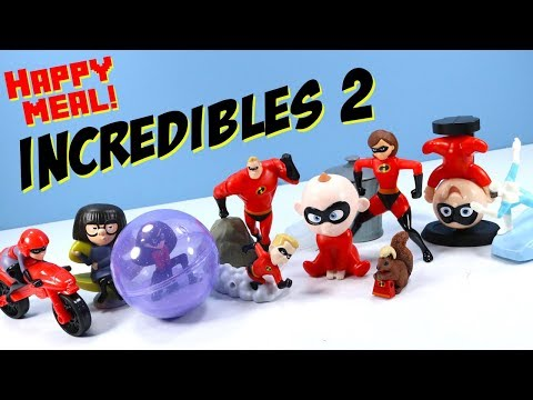 Incredibles 2 McDonalds Happy Meal Toy Collection Review 2018