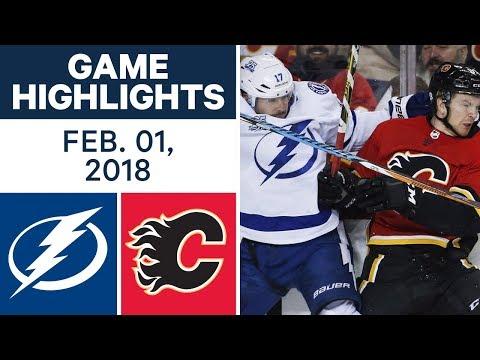 NHL Game Highlights   Lightning vs. Flames – Feb. 1, 2018