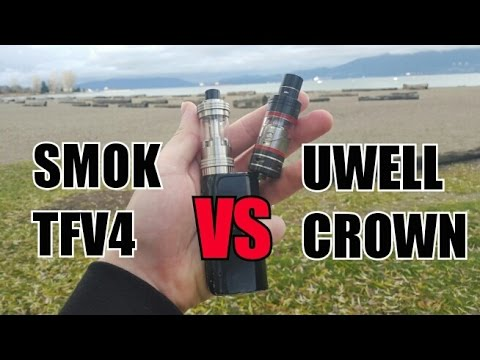 SMOK TFV4 MINI VS UWELL CROWN two of the best Sub-Ohm Tanks