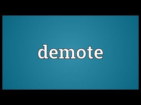 Header of demote