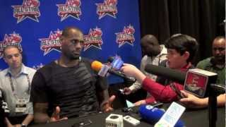 LeBron James Chats With Our Kid Reporter Logan Schayes