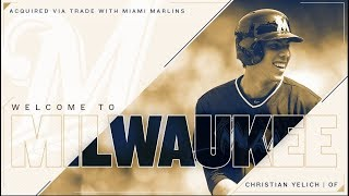 Christian Yelich Traded to Brewers Milwaukee Brewers