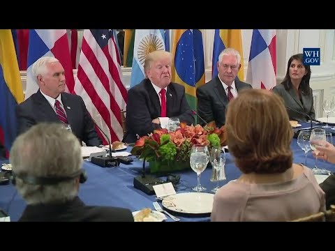 Donald J. Trump - Dines With Latin American Leaders