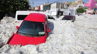 Ungewöhnliches Wetterphänomen: Mexikanische Stadt unter Hagel begraben