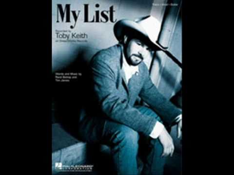 Toby Keith  My List