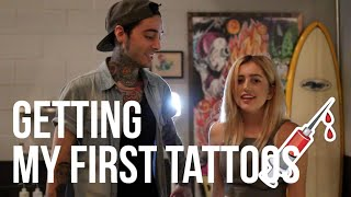 GETTING MY FIRST TATTOOS ♡
