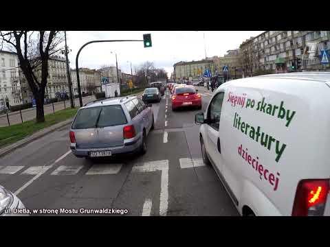 Kraków: Paraliż miasta, ul. Dietla