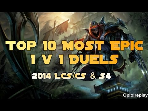 Top 10 Most Epic 1 1 Duels - League of Legends 2014 ...