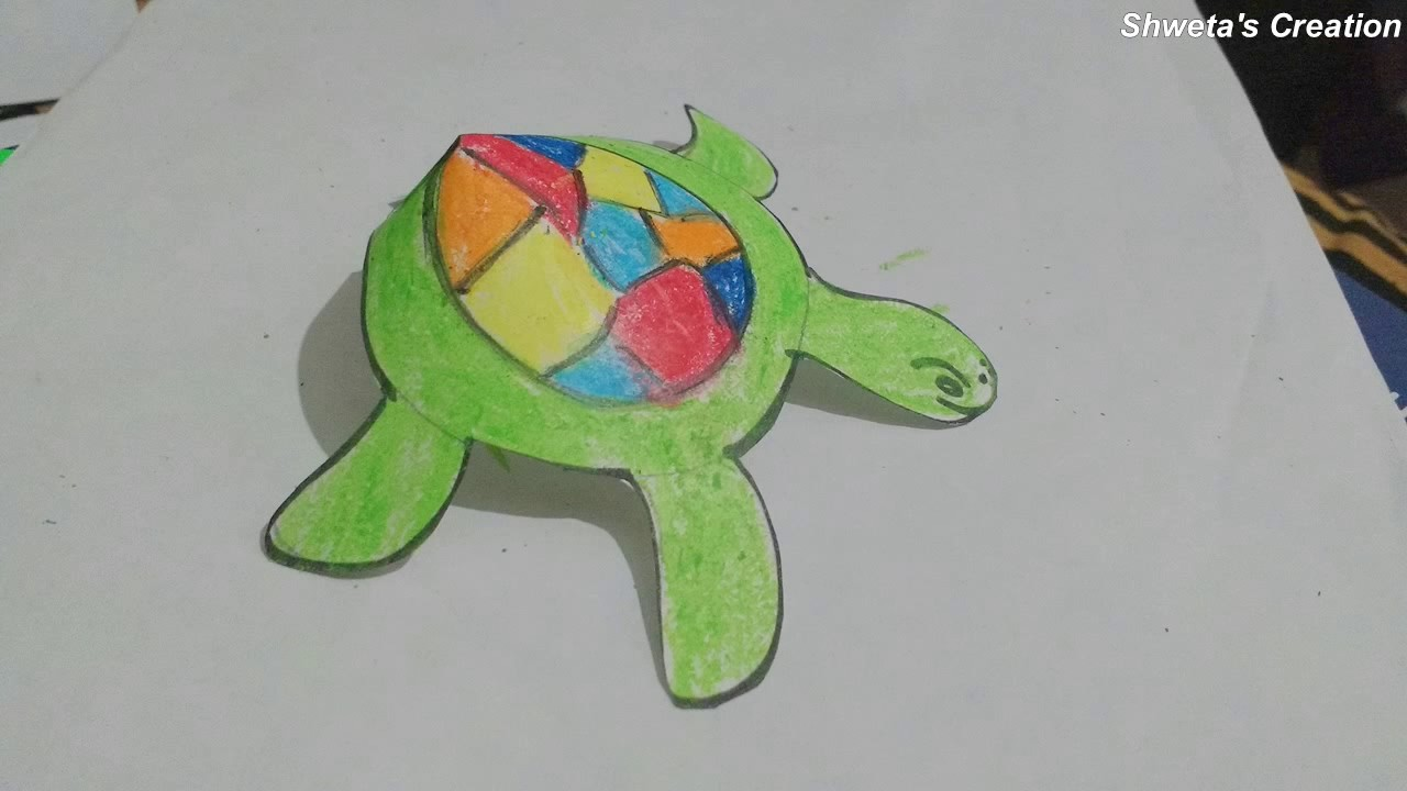 paper tortoise how to make paper turtle for kids youtube