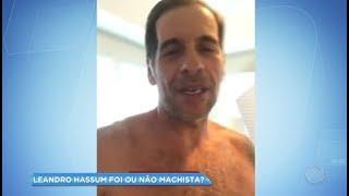 Hora da Venenosa: Leandro Hassum é chamado de machista após postar vídeo com a esposa