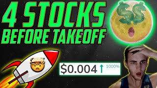 4 Penny Stocks BEFORE they ExPlOdE 💥 $0.004 Stock will 10x? 70% GAIN! Crypto Deal😱 Quick Gains?