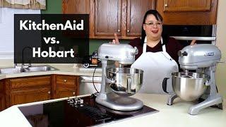 KitchenAid Stand Mixer Pro 600 vs Hobart Comparison Battle | Bread Dough | What's Up Wednesday!