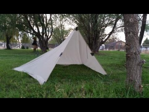& Oilskin Tarp out of a Cotton Bed Sheet - YouTube
