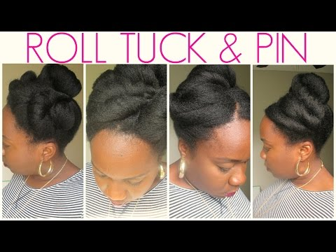Easy Roll Tuck & Pin Natural Hairstyles : #Protectivestyles