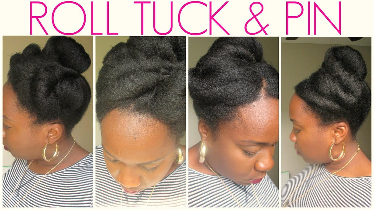 tuck and roll hair styles easy roll tuck amp pin hairstyles 7065