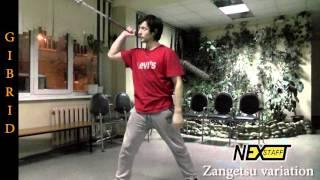 Фаер-шоу. Уроки Шест (Spin Staff) стиль GIBRID - Zangetsu variation