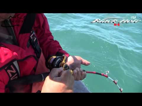Part 1: Alaska Halibut vs. Black Hole Magic Eye 571XXH Rod from Alaska!